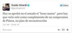 Impresiones de políticos ante el Bono Marzo