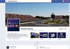 Example of a corporate facebook page - red bull
