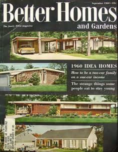 Idea Homes for 1960!