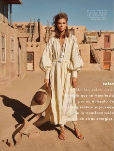 Bo Don Is 'Sandstorm Warrior' In Danilo Hess Images For Elle Mexico March 2016 — Anne of Carversville Desert Fashion, Covet Fashion, Boho Fashion, Fashion Design, Fashion Shoot, Editorial Fashion, Bohemian Style, Boho Chic, Morocco