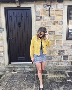 How to Style the Coloured Denim Jacket | https://stylewithblondeambition.co.uk/2018/05/19/how-to-style-the-coloured-denim-jacket/ #ShopStyle #shopthelook #WeekendLook #OOTD