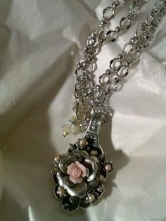 Lovely spoon necklace made by Brenda Sue Lansdowne of B'sue Boutiques