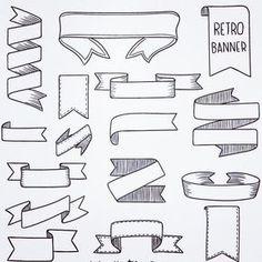 Banners For Bullet Journal Bullet Journal Headers, Bullet Journal Banner, Bullet Journal Lettering Ideas, Bullet Journal Notebook, Bullet Journal School, Bullet Journal Ideas Pages, Bullet Journal Inspiration, Journal Fonts, Bullet Journal Aesthetic