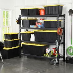 Husky 77 in. W x 78 in. H x 24 in. D Steel Garage Shelving Unit-ERZ782478W-4 - The Home Depot