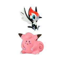 Comprar boneco oficial de Pokémon Pikipek + Clefairy 2  #action #figure #pokémon #tomy #toys #sunny #brinquedos #pikipek #clafairy Tomy Toys, Pikachu, Snowman, Action Figures, Disney Characters, Fictional Characters, Crochet, Art, Pokemon Dolls