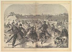 Skating on the Ladies' Skating Pond in Central Park, New York (Harper's Weekly, Vol. IV)