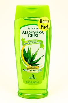 Aloe Vera Grisi Shampoo has natural extracts from Aloe Vera, Avocado and Olive.  These components together make a great moisturizing shine and cleanser.  It also lessens the appearance of split ends, and untangles hair.  Natural ingredients make this shampoo earth friendly, and moreover they work wonders on your hair.