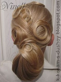 artistic wedding hairstyle-pin it by carden Romantic Hairstyles, Holiday Hairstyles, Retro Hairstyles, Bride Hairstyles, Down Hairstyles, Glamorous Hairstyles, Hairdos, Pin Up Hair, Love Hair