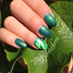 #gel #gelmix #nails #unghie_corte #fluo #green #passione_unghie #gerdzhikova #natura #estate