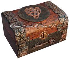 Handmade decorated jewelry box and dragon egg, Dragon jewelry box, Game of Thrones inspired jewelry box, Transylvania gift