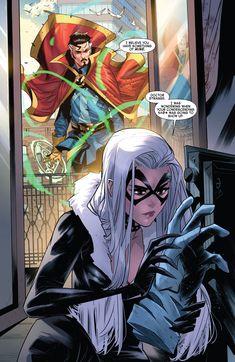 Spiderman Black Cat, Black Cat Marvel, Spiderman Art, Black Cat Comics, Black Cat Art, Doctor Strange Comic, Spider Man 2018, All Avengers, Marvel Drawings