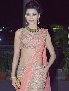 Urvashi Rautela at Tulsi Kumar's wedding reception in Mumbai. #Bollywood #Fashion #Style #Beauty