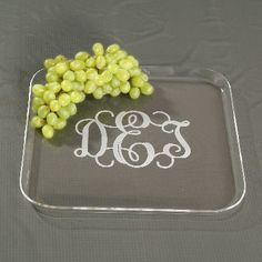 Monogrammed Acrylic Tray. Affordable gift idea!