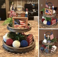 My 4th of July tiered tray