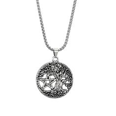 Tree Of Life Necklace, Tree Of Life Pendant, Moon Necklace, Pendant Necklace, Unique Necklaces, Silver Necklaces, Triple Moon Goddess, Tree Of Life Jewelry, Celtic Tree Of Life