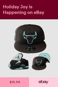 New Era NBA Chicago Bulls 950 Snapback Hat Match Air Jordan 5 Retro Black  Mint d4d382051eb0