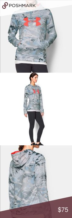 Under Armour Camo Hoodie New with tag.   Loose: Generous, more relaxed fit. UA Storm technology repels water without sacrificing breathability Armour Fleece® is light but surprisingly warm & stretches for superior mobility Material wicks sweat & dries really fast Lined adjustable hood with crossover neckline for easy on/off Front kangaroo pocket Allover camo print Under Armour Tops Sweatshirts & Hoodies