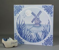 Lynne's Crafty Little Blog: Delft Tile Style Windmill Card. CASE with Stampin Up Netherlands stamp set.