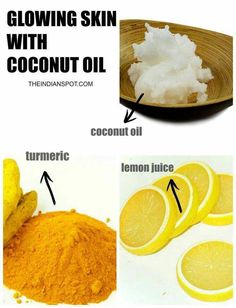 #TumericFaceMaskRecipes #AvocadoFaceMask Coconut Oil For Acne, Benefits Of Coconut Oil, Homemade Face Masks, Homemade Skin Care, Turmeric Juice, Turmeric Mask, Tips Belleza, Belleza Natural, Oils For Skin