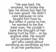 Bad Boy Love Quotes - What girl doesnt love the tortured bad boy. The most famous and inspiring quotes from bad boys. Pin On Quotes Save big at lastmans bad boy lowest pric. Good Girl Quotes, Cute Quotes, Perfect Man Quotes, Writing Promps, Book Writing Tips, Girls Quotes Images, Quote Aesthetic, Bad Boy Aesthetic, Pretty Words