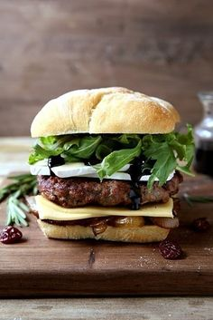Cherry Rosemary Cheeseburger   11 Next-Level Burgers You Must Grill Now That Summer Is Here
