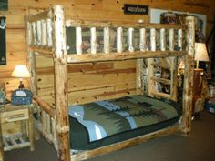 Log Bunkbed by Twist of Nature, several size options