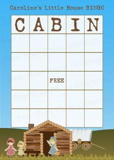 Little House BINGO -- Printable BINGO Card for Little House on the Prairie Birthday Party