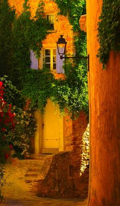 Golden Entry, Provence, France [this is roughly the color of my bedroom walls--love it]