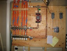 Solar House Heating System -- Control Diagram