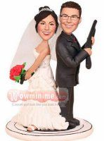 Mr and Mrs Smith wedding cake toppers