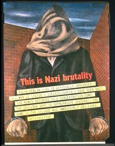 This is Nazi Brutality poster, Ben Shahn (Designer), US Office of War Information, Washington, DC (Publisher) circa 1942.