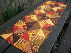 Autumn Table Runner Fall Handmade Quilted by atthebrightspot, $62.00