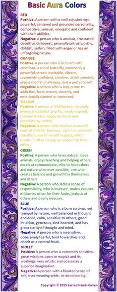 Basic Aura Color Meanings