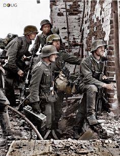 German soldiers platoon