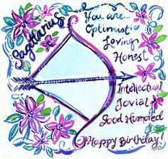 Let the celebration begin—Happy Birthday Sagittarius! #lilly5x5