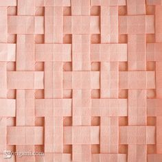 Amazing origami! Square Weave Tessellation - with template