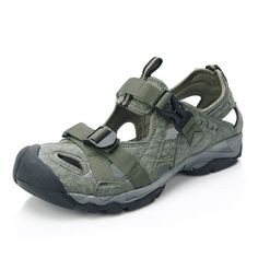 1a7130e3b04c Men s Closed-Toe Hiking Sandal Outdoor Sport Fisherman Athletic Water Sandal  SD206 - Green - CK11ZPQXLCZ