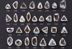 Custom Clear-White Rose Cut Diamond Ring
