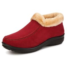 New Women Winter Warm Ankle Boots Round Toe Cotton Snow Boots