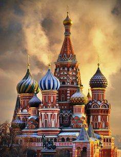 Moscow, Russia.  for this cathedral.  (and for everything else!)