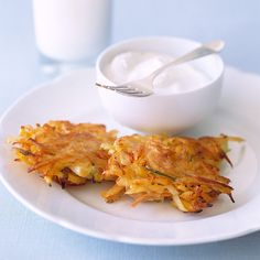 Fried in oil in recognition of the ancient lamps that held only enough oil for one day but miraculously burned for eight, latkes, or potato pancakes, are a traditional Hanukkah dish.