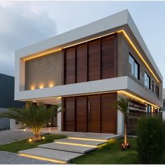 Architecture 33 Lovely Modern Villa Exterior Design Ideas Luxury Look Your Reference Guide To Caring Architecture Design, Modern Architecture House, Residential Architecture, Building Exterior, Building A House, Building Design, Cafe Exterior, Restaurant Exterior, Exterior Stairs