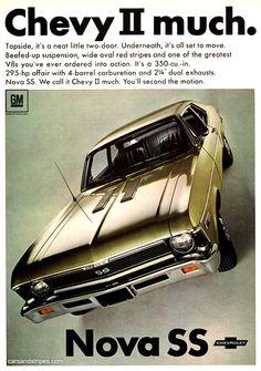 1968 Chevrolet Nova SS - Chevy II much - Original Ad