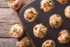 Do you own a muffin tin? Are you only making muffins with it? Healthy Meals For Kids, Kids Meals, Healthy Recipes, Meatloaf Cupcakes, Meatloaf Muffins, Bacon Muffins, Breakfast Muffins, Profile By Sanford, Caldo De Pollo