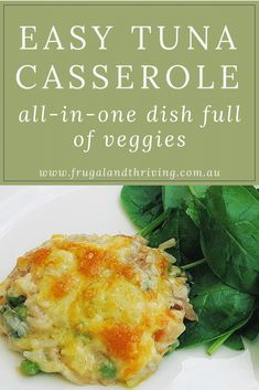 This easy tuna casserole is quick to make, makes use of budget staple pantry ingredients like tinned tuna and rice and it's a hit with the kids. Tuna Dishes, Seafood Dishes, Savoury Dishes, Pasta Dishes, Seafood Recipes, Dinner Recipes, Brunch Recipes, Tinned Tuna Recipes, Salmon Recipes