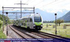 Testfahrt des neuen Stadler-Dosto RABe 515 für die BLS AG zwischen Sargans und Landquart am 15.05.12. / Foto: Peter Walter
