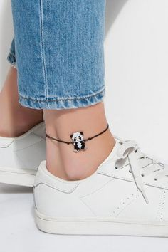 Complete your style and elegance with Lidyana Accessories Miyuki Panda Anklet and discover fashion. Beautiful Anklets & Feet Sahmeran models from each other . Beaded Anklets, Beaded Earrings, Beaded Bracelets, Ankle Jewelry, Ankle Bracelets, Jewelry Patterns, Bracelet Patterns, Bead Jewellery, Beaded Jewelry