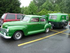 Sweet Vintage Car and Travel Trailer