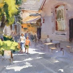 """Mike Kowalski on Instagram: """"A small plein air painting of Abbottsford Convent here in Melbourne. #watercolor #pleinair #pleinairwatercolor #watercolorsketch…"""" Watercolor Sketch, Melbourne, Painting, Instagram, Art, Art Background, Painting Art, Kunst, Paintings"""