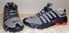 Nike Shox NZ 378341 480 Obsidian Blue Team Orange Sport Gray size 12 mens Rare  #Nike #RunningCrossTraining